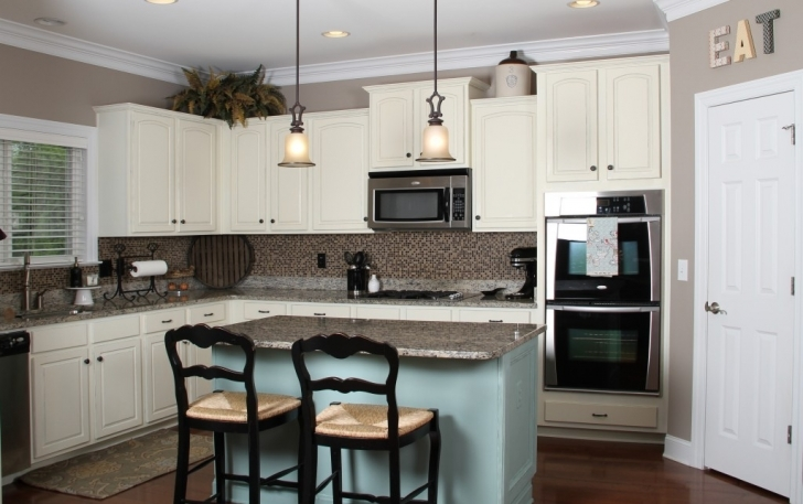 Chalk Paint Kitchen Cabinets Throughout Annie Sloan Kitchen Best Blue And White Pics