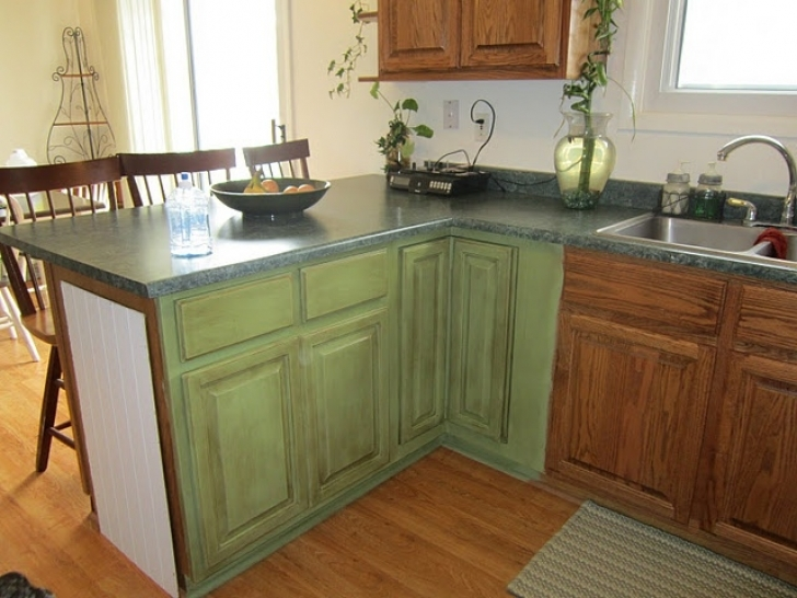 Chalk Paint Kitchen Cabinets Throughout Painted Cabinets With Annie Sloan Chalk Paint  Pictures