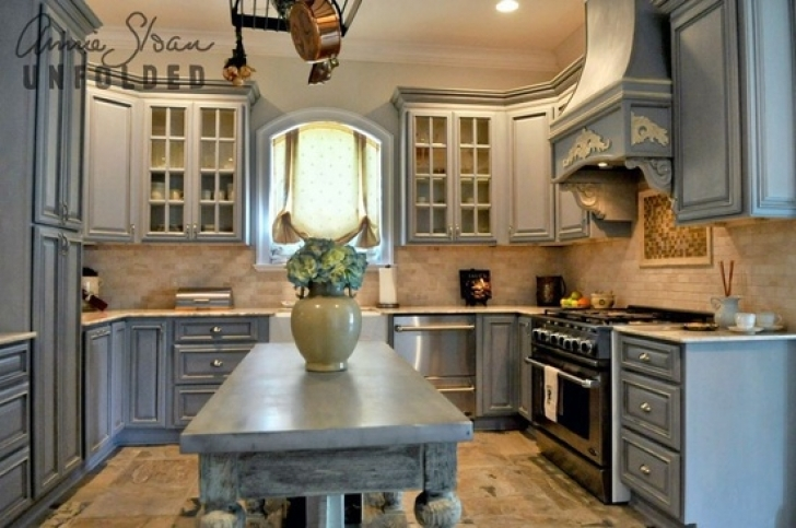 Chalk Paint Kitchen Cabinets With Brocante Home Collection's Paintbrush And Pearls Painting Kitchen Picture
