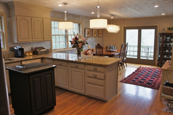 Chalk Paint Kitchen Cabinets With Regard To New Lighting Kitchen Makeover Pic
