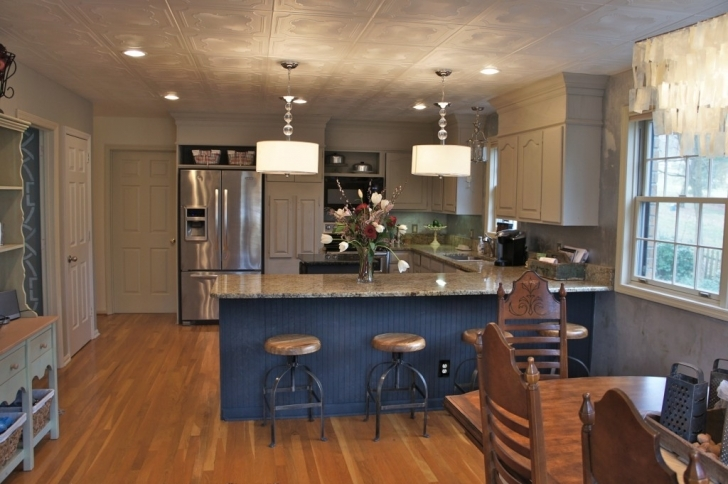 Chalk Paint Kitchen Cabinets With Regard To Painting Kitchen Cabinets And Brick Lighten Up A Kitchen Image