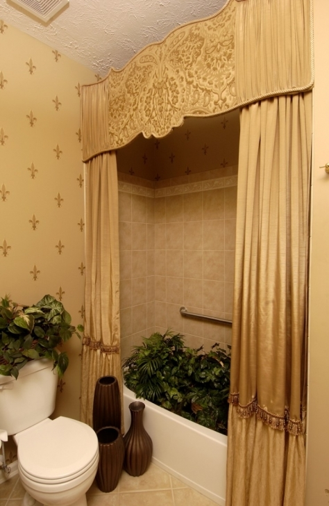 Cornice Board Ideas Inside Attractive Tribal Motif Ornament On Creamy Tufted Curtains Photo