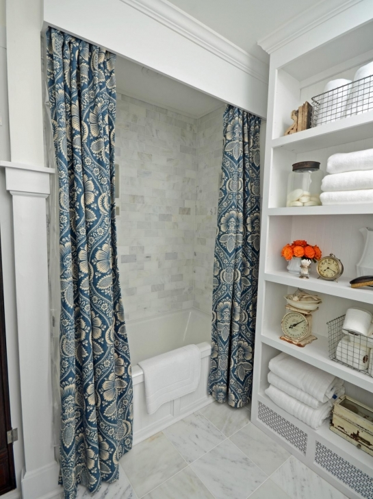 Cornice Board Ideas Throughout Amazing Original Marian Parsons Shower Curtain And Cornice Beauty Images