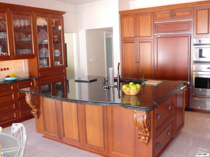 Custom Kitchen Cabinets Regarding Beautiful Cherry Custom Cabinets  Pics