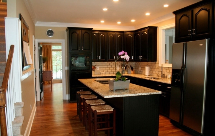 Custom Kitchen Cabinets Regarding Incredible Modern Kitchen Backsplash Dark Decor Pic