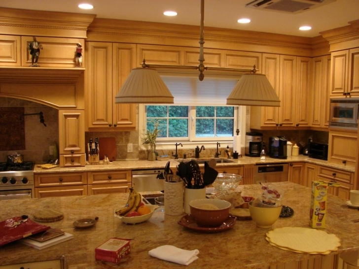 Custom Kitchen Cabinets With Regard To Brilliant Brown Kitchen Cabinet Design Idea Pictures