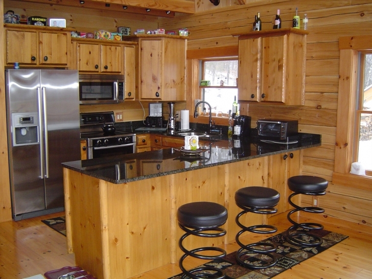 Custom Kitchen Cabinets With Regard To Delightful Pine Kitchen Cabinets Picture