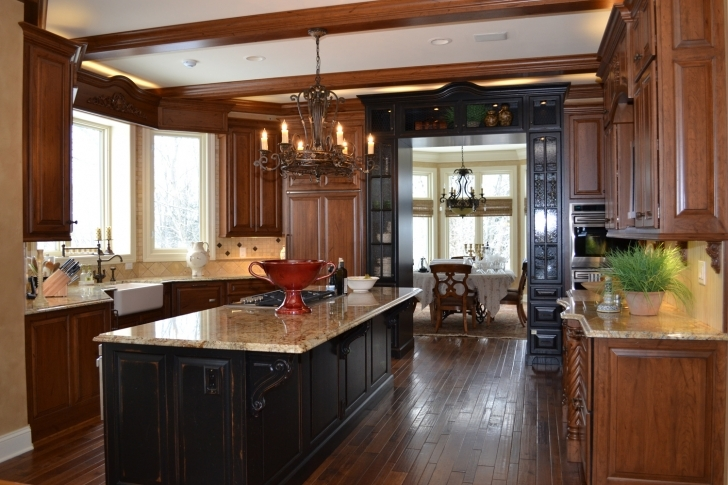 Custom Kitchen Cabinets With Regard To Marvelous Distressed Cherry Photos