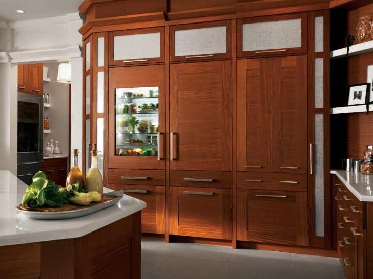 Custom Kitchen Cabinets With Regard To Stylish CI GE Monogram Kitchens Wood Cabinets Pictures