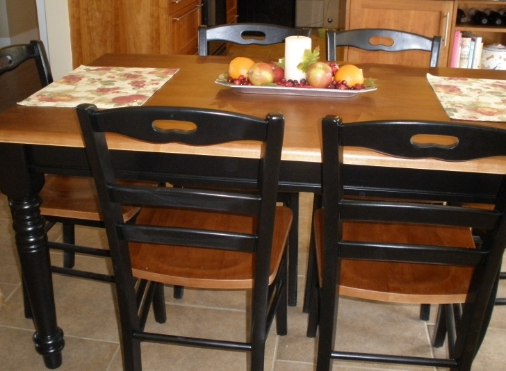 Dark Wood Kitchen Table In Simple Decoration On Table Design Ideas  Photo