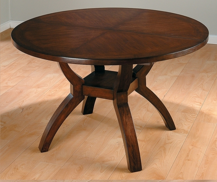 Dark Wood Kitchen Table Throughout Modern Wood Kitchen Tables Or Wooden Round Dining Tables  Photos