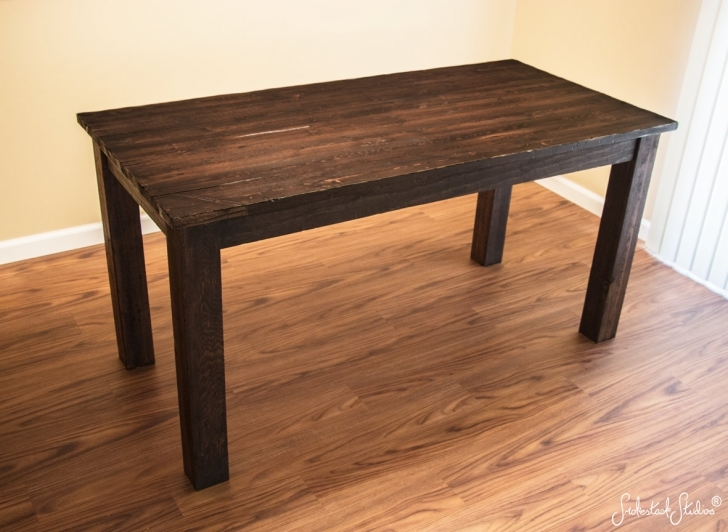 Dark Wood Kitchen Table Within Rustic Wood Table Ideas Pics