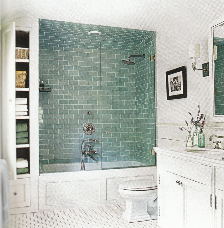 Delightful Small Bathroom Remodeling Subway Tile In Perfect Blue Bathroom Tile Designs With Bathtub Shower Photos
