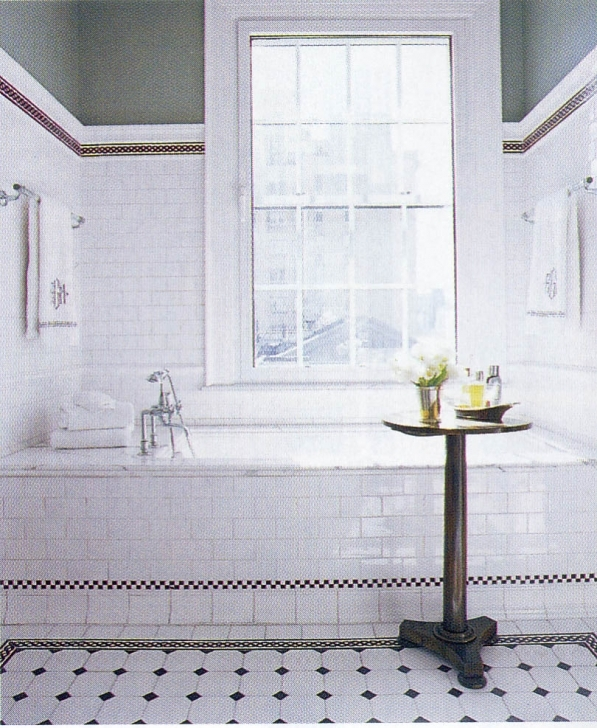 Delightful Small Bathroom Remodeling Subway Tile With Regard To Perfect Retro Look Photos