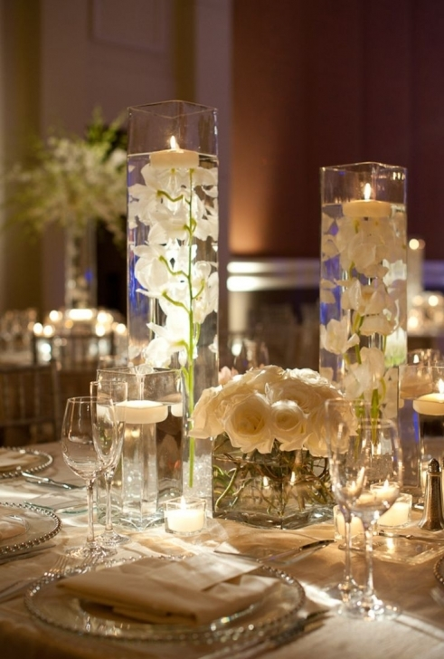 Dining Room Table Centerpieces In Marvelous Wedding Dining Table Centerpiece Decoration Using Cylinder Extra Tall Vase Pics