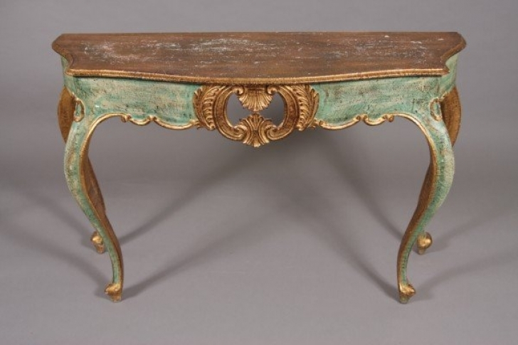 Extraordinary Console Table French Style With Regard To Venetian Rococo Style Console Table With Mirror Image