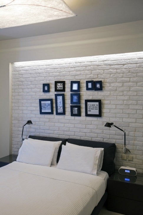 Extraordinary White Brick Wallpaper Bedroom Within Scenic Modern Interior Brick Walls Painted Pics