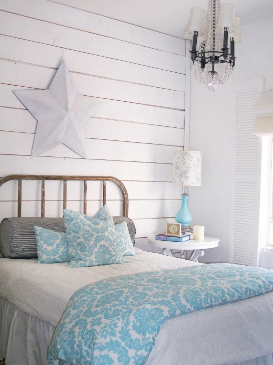 Fascinating Shabby Chic Bedroom Ideas In Shabby Chic Guest Bedroom Wood Planks Photos