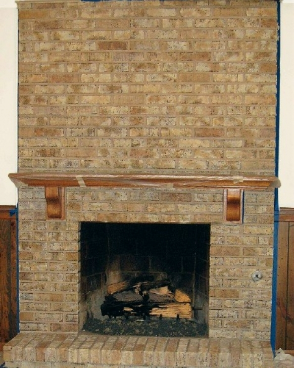 Faux Painting Brick Fireplaces Faux Painted Brick Fireplace Pic