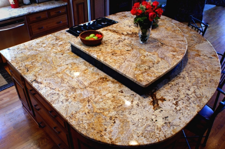 Golden Crystal Granite Countertops Design 1851