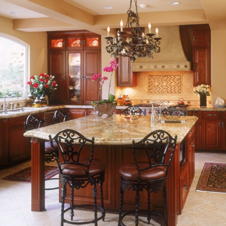 Golden Crystal Granite Countertops I Quarzi Ivory Floor Design 7941