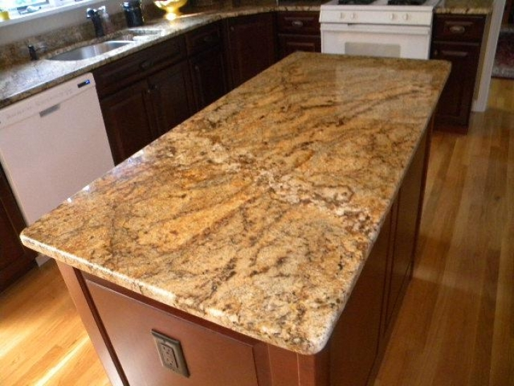 Golden Crystal Granite Countertops Installed In Westborough 6566