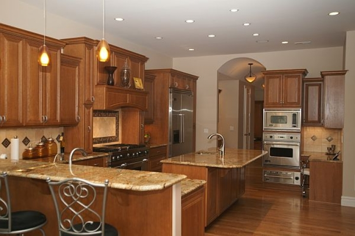 Golden Crystal Granite Countertops Kitchen 3185