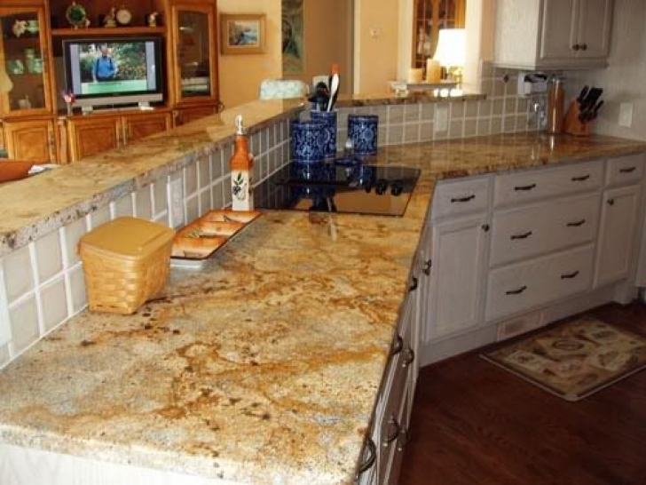 Golden Crystal Granite Countertops Paint Cabinets 9416