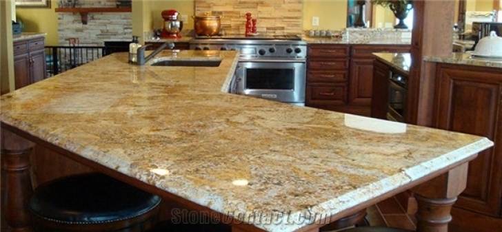 Golden Crystal Granite Countertops Yellow USA 2804