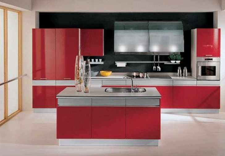Italian Kitchen Design Inside Beautiful Custom Kitchen Red Italian Kitchen Design With Island Picture