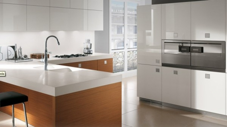 Italian Kitchen Design With Attractive Appliances Deectable Modern Italian Kitchen Design With White Photo