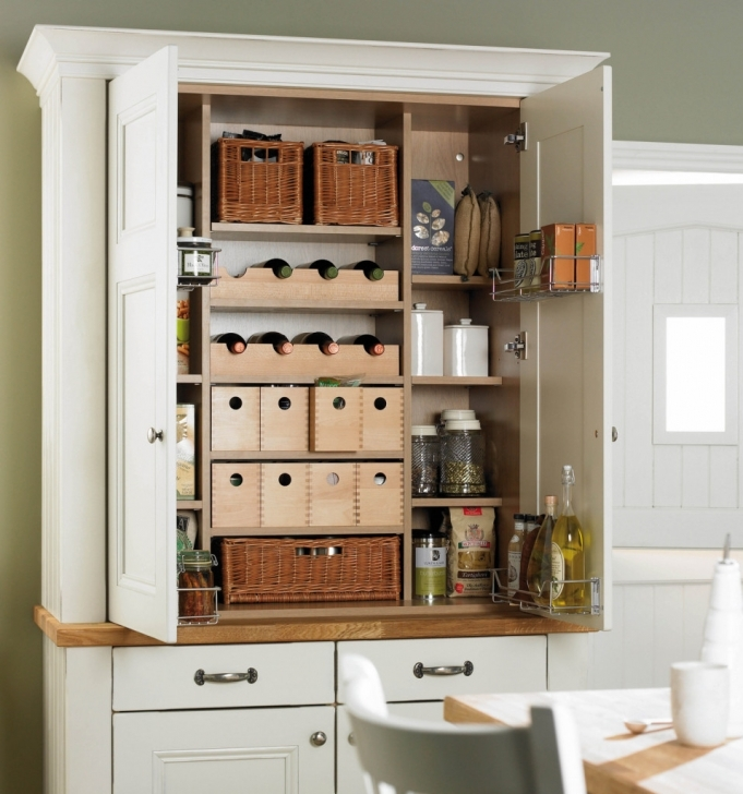 Kitchen Pantry Cabinet Ideas In Simple White Design Photos