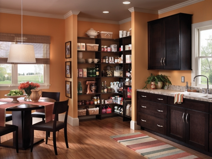 Kitchen Pantry Cabinet Ideas Inside Kitchen Set Aside Of Black Round Photo