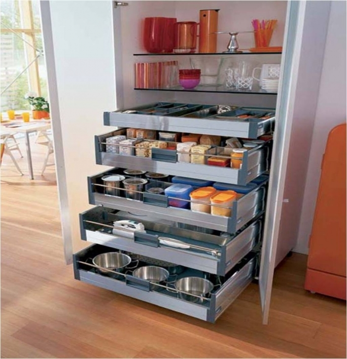 Kitchen Pantry Cabinet Ideas Regarding Elegant And Modern Kitchen Storage Pantry Cabinet Picture