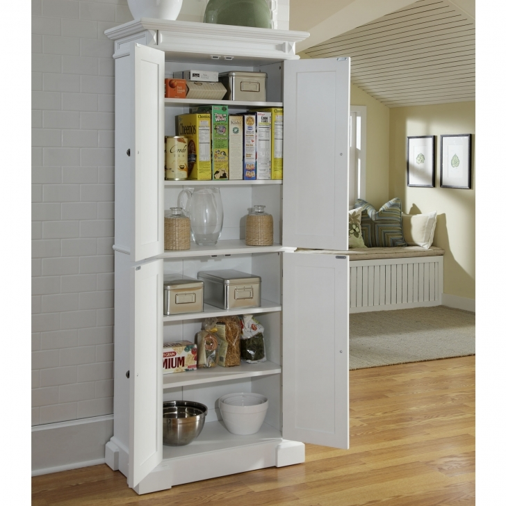 Kitchen Pantry Cabinet Ideas Throughout Small White Kitchen Storage Cabinets Picture