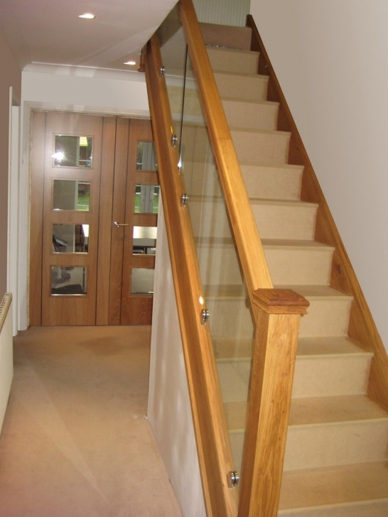 Oak Staircase Design With Glass Balustrade Images