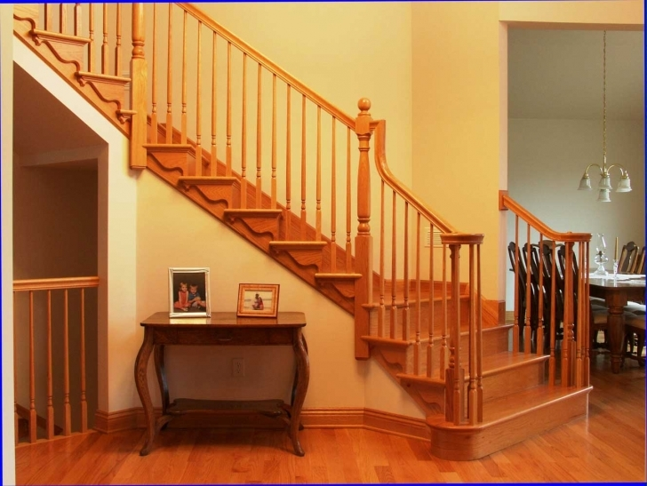 Oak Staircase Design With Scrolled Tread Brackets Picture