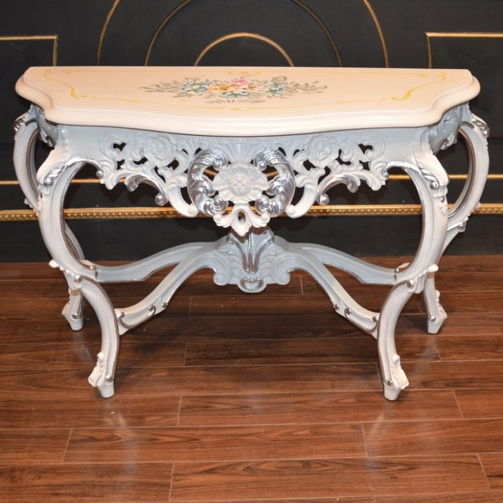 Outstanding Console Table French Style Regarding Classic Furniture Photo