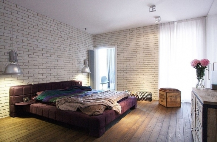 Stylish White Brick Wallpaper Bedroom With Regard To Spacious Classy Bedroom Decor Photo
