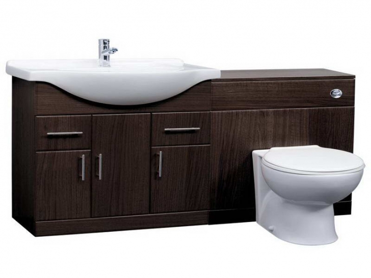 Toilet Sink Combo Inside Wooden Combination  Image