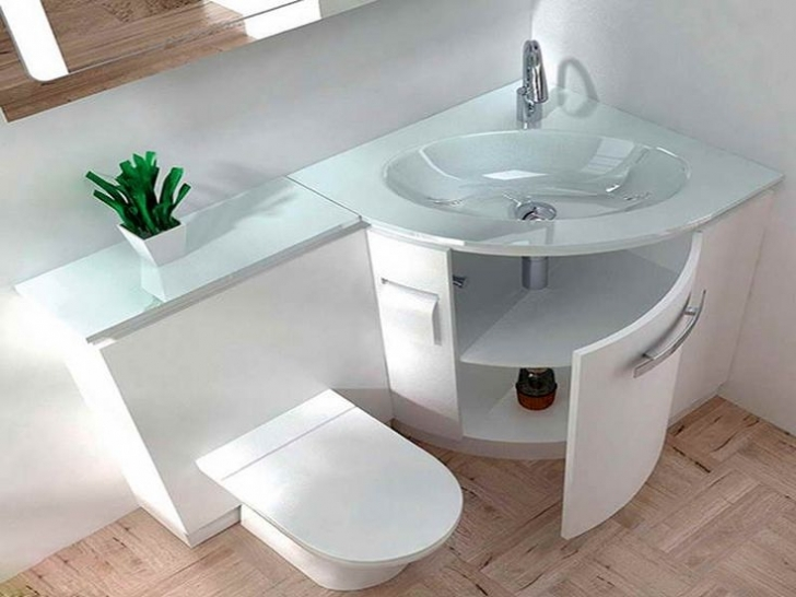 Toilet Sink Combo With Green Decor Bathroom Pictures