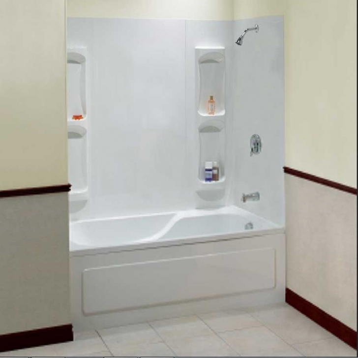Walk In Tubs And Showers Inside White Acrylic Wall And Soaking Tub With Built In Caddy Bath Images