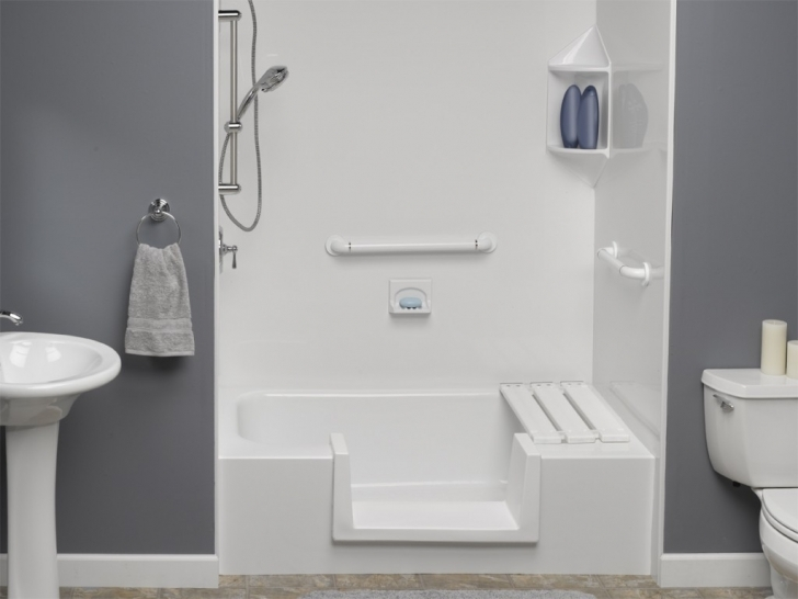 Walk In Tubs And Showers With Usa Bath Step Through Insert Images
