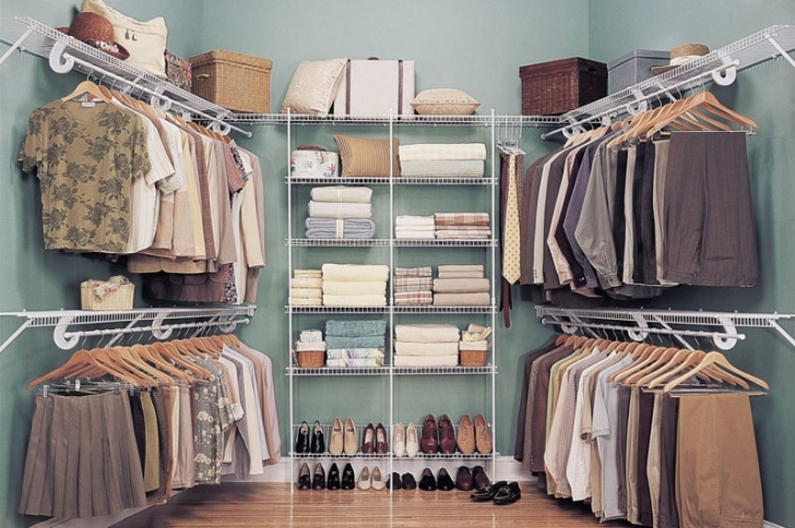 Wire Shelving Units for Closets Within Gradual Linen Photo