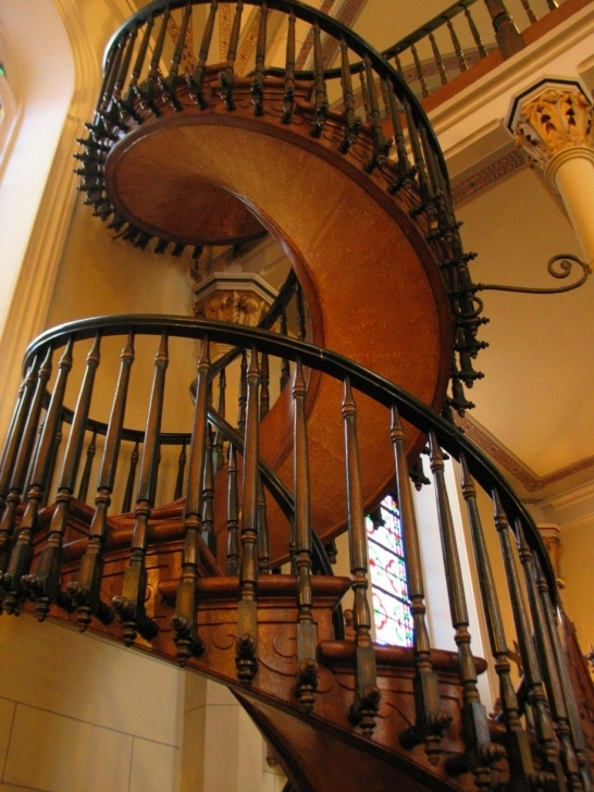 Wooden Spiral Staircase In Stylish Vintage Wooden Staircase Baluster Pic293