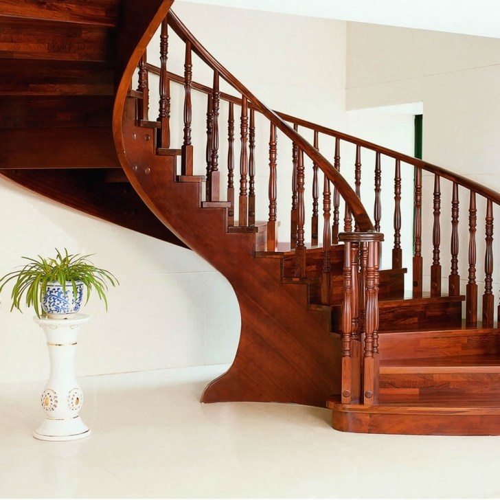 Wooden Spiral Staircase Throughout Classy Solid Cherry Wood Spiral Staircase Including Curved Solid Wood Staircase Spin  Image719