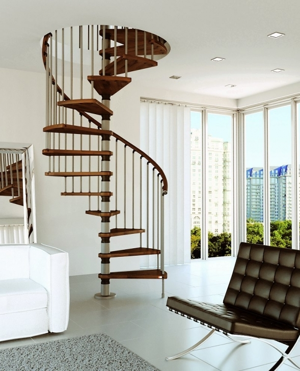 Wooden Spiral Staircase With Regard To Awesome Gamia Wood White Metal Fence Spiral Staircase Picture899