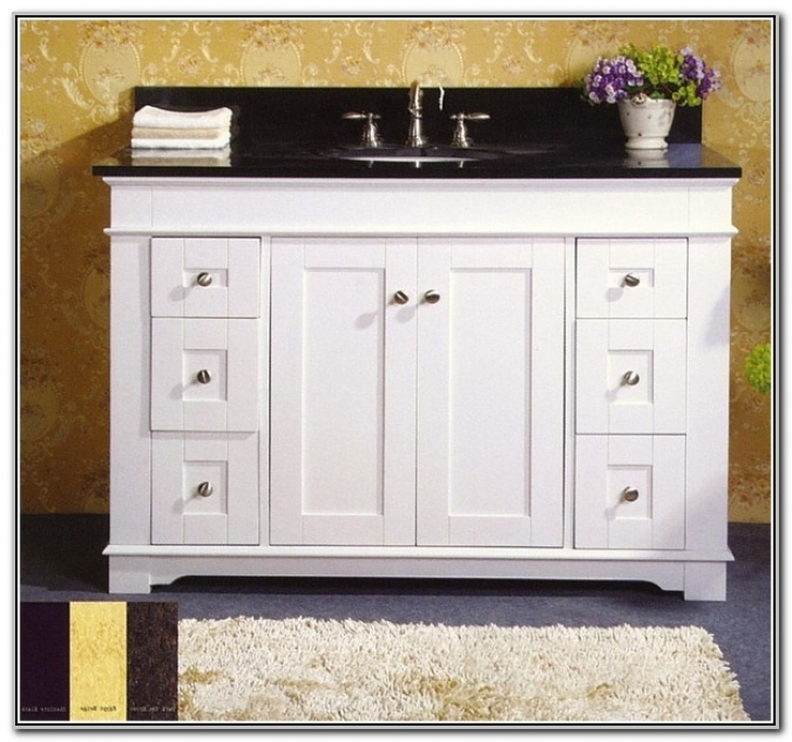 42 Inch Bathroom Vanity Cabinet White 891