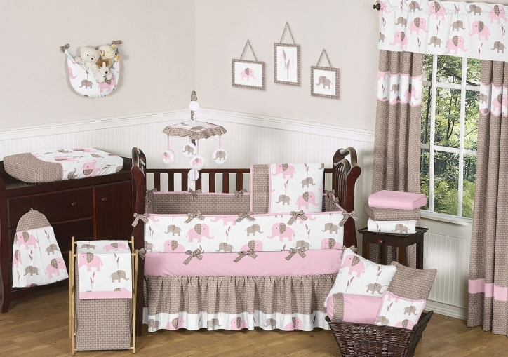 Baby Crib Bedding Sets Girly Jojo Baby Room Design With Wooden Baby Crib Pictures