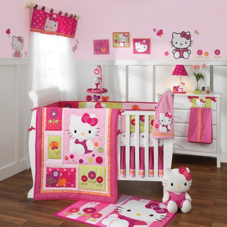 Baby Crib Bedding Sets Hello Kitty Ideas With Cute Contemporary Bedroom Design Photo